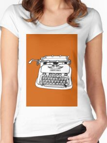 Hermes Typewriter Women's Fitted Scoop T-Shirt