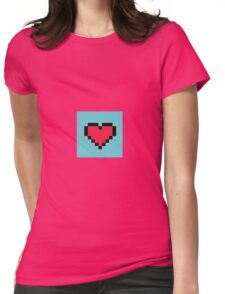8-bit Heart Emoji Womens Fitted T-Shirt