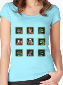 tmnt 8 bit  Women's Fitted Scoop T-Shirt