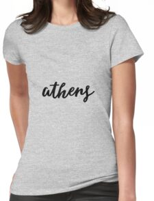 athens. Womens Fitted T-Shirt