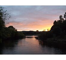 Sunset over the Nith Photographic Print