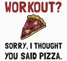 Work Out Pizza Kids Clothes