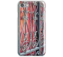 Detail of an old building with an iron fence iPhone Case/Skin
