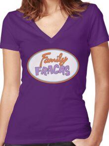 Family Fracas Women's Fitted V-Neck T-Shirt