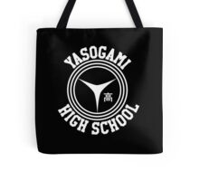 Yasogami Emblem with Text (White) Tote Bag