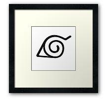 Hidden Leaf Village symbol - Konoha sign - Naruto logo Framed Print