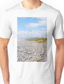 Fog Rolling In On Beach Filled With Pebbles Unisex T-Shirt