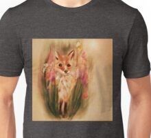 Fox in Wildflower Illustration Unisex T-Shirt