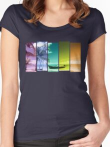 Colorful Beach Women's Fitted Scoop T-Shirt