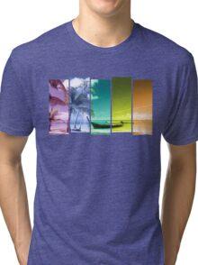 Colorful Beach Tri-blend T-Shirt