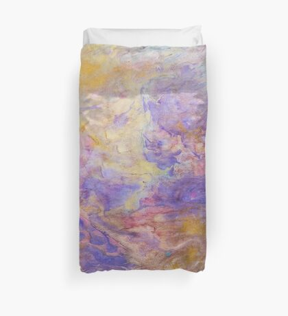 Swirls of purple unique abstract ink pattern design Duvet Cover