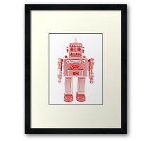 Red Vintage Robot Framed Print