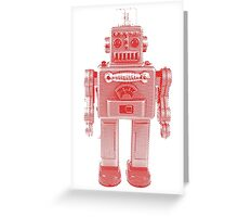 Red Vintage Robot Greeting Card