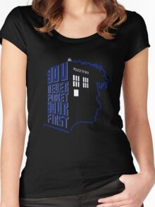 You Never Forget Your First - Doctor Who 10 David Tennant Women's Fitted Scoop T-Shirt