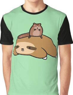 Sloth and Chipmunk Graphic T-Shirt