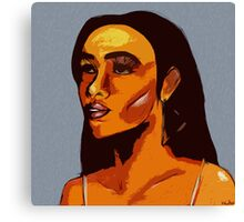 Melanin (Abstract) Canvas Print
