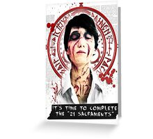 """Silent Hill - It's time to complete the """"21 Sacraments"""" Greeting Card"""