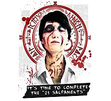 """Silent Hill - It's time to complete the """"21 Sacraments"""" Photographic Print"""