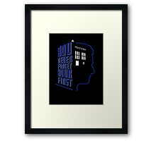 You Never Forget Your First - Doctor Who 12 Peter Capaldi Framed Print