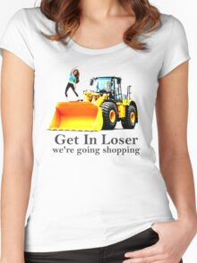 GET IN LOSER were going shopping Women's Fitted Scoop T-Shirt