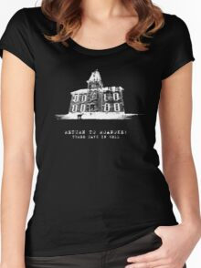 American Horror Story My Roanoke Nightmare Return to Three Days In Hell Women's Fitted Scoop T-Shirt