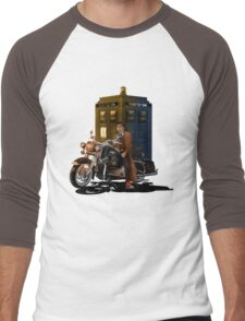 time and space traveller with Big Motorcycle Men's Baseball ¾ T-Shirt