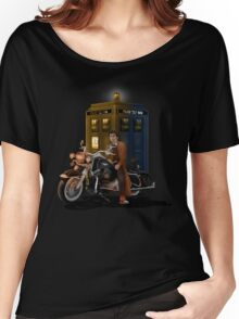 time and space traveller with Big Motorcycle Women's Relaxed Fit T-Shirt