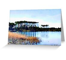 Tall Stand of Trees on Grayton Beach 30a Greeting Card