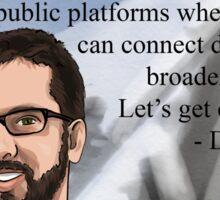 #SciComm100: David Evans Sticker