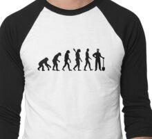 Evolution construction worker Men's Baseball ¾ T-Shirt