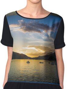 Seaside Sundown Chiffon Top