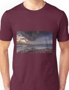 Sunrise Storm off the Rocks Unisex T-Shirt