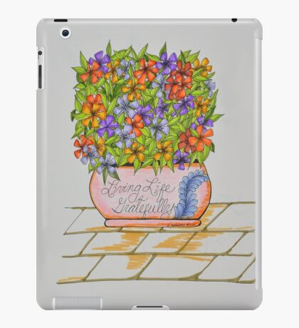 Flowers/24 - Gratitude Saying iPad Case/Skin