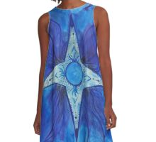 Blue Star A-Line Dress