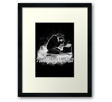Alan Wake 'I can't going like this....' - black version Framed Print