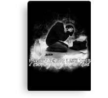 Alan Wake 'I can't going like this....' - black version Canvas Print