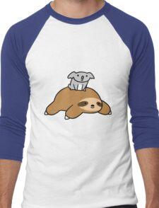 Koala and Sloth Men's Baseball ¾ T-Shirt