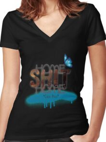 Home Shit Home - Chloe Price - Life is Strange Women's Fitted V-Neck T-Shirt