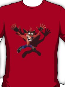 Brash Bandicoot Falling T-Shirt