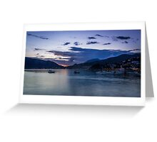 Twilight Time on Seaside Greeting Card
