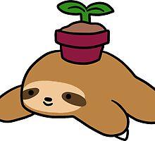 Potted Plant Sloth by SaradaBoru