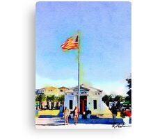 Sea Side Florida Post Office 30a Canvas Print