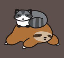 Sloth and Raccoon by SaradaBoru