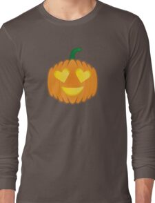 Pumpkin emoji - Heart/Love Long Sleeve T-Shirt