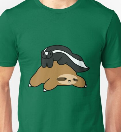 Sloth and Skunk Unisex T-Shirt
