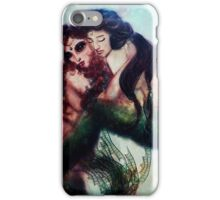 Ariel and Sister Fine Art Mermaid Illustration iPhone Case/Skin