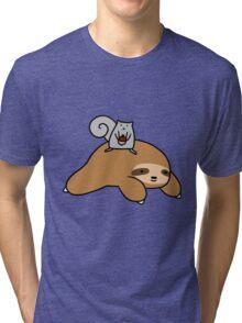 Sloth and Squirrel  Tri-blend T-Shirt