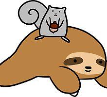 Sloth and Squirrel  by SaradaBoru
