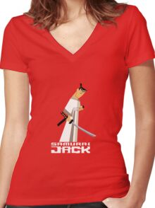 Samurai Jack Women's Fitted V-Neck T-Shirt