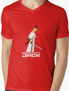 Samurai Jack Mens V-Neck T-Shirt